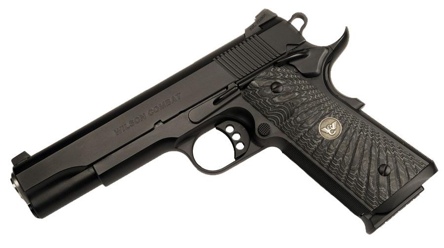 Wilson Combat CQB Elite, Ambi Safety, G10 Grips, No Front Cocking Serrations, Black