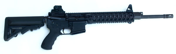 LMT CQB MRP Defender Piston Rifle, SOPMOD Stock, 5.56 , 16 in.