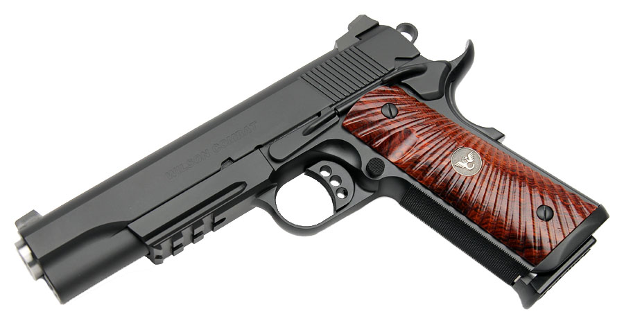 Wilson Combat CQB Tactical LE, Rail, Cocobolo Grips, No Front Cocking Serrations