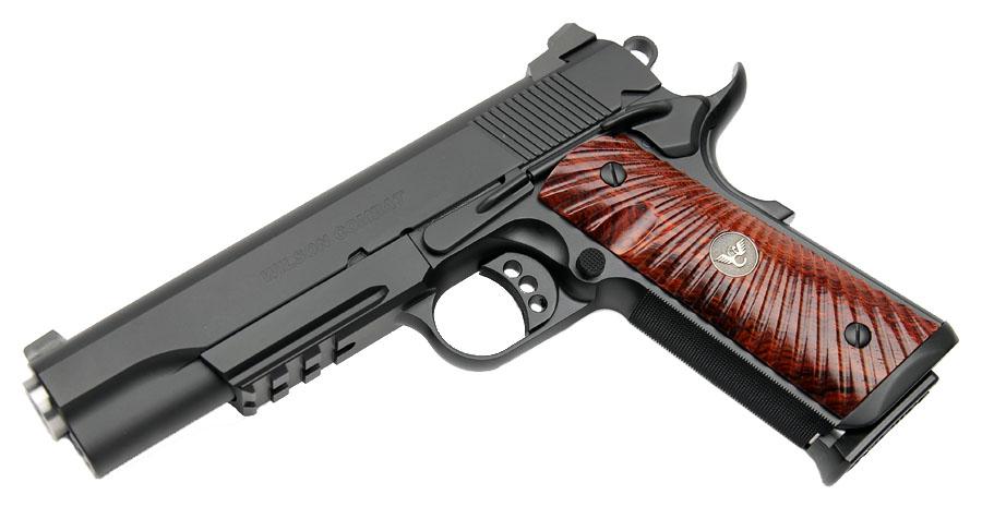 Wilson Combat CQB Tactical LE, Rail, Cocobolo Grips, No Front Cocking Serrations, Ambi Safety