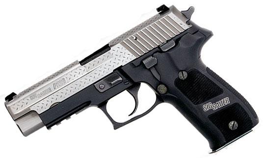 Sig Sauer P226R Diamond Plate 9mm, SigLite Night Sights, DA/SA