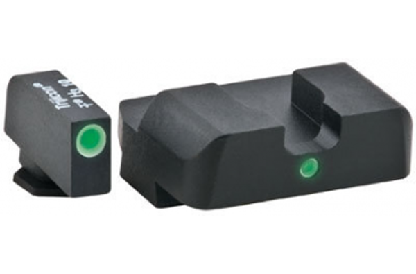 Ameriglo Tritium Night Sight Set - i-Dot - Glock 9mm, .40, .357, .45 G.A.P. - Green/Yellow
