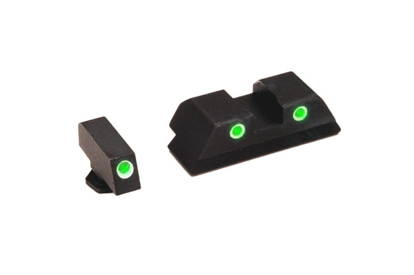 Ameriglo Tritium Night Sight Set - CLASSIC - Glock 10mm, .45, .357 - Green/Yellow