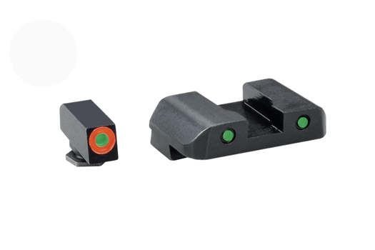 Ameriglo Tritium Night Sight Set - Spartan Tactical - Glock 10mm, .45, .357, - Green/Green