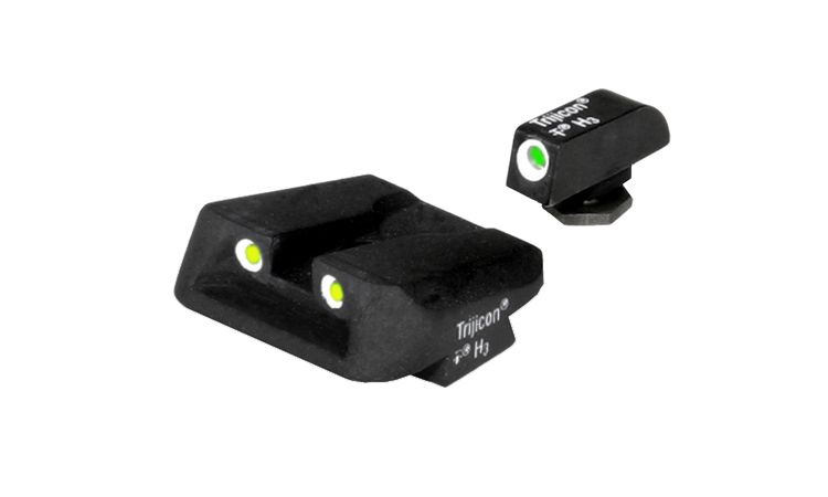Trijicon Night Sight Set - GLOCK 3 DOT w/NOVAK YELLOW REAR