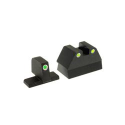 Ameriglo Tritium Night Sight Set - USP COMPACT - Green/Yellow