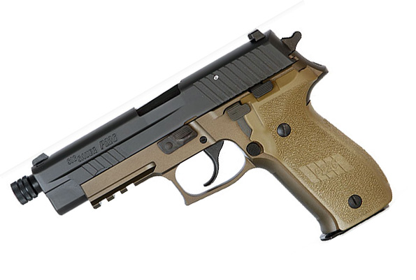 Sig Sauer P226R COMBAT 9mm, Nitron, SigLite Night Sights, DA/SA - THREADED BARREL
