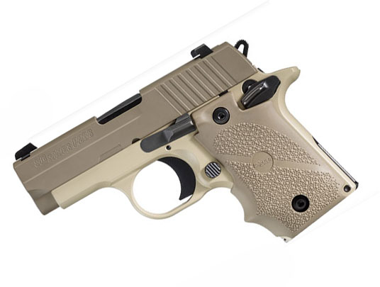 Sig Sauer P238 .380ACP, Desert, Night Sights, SAO