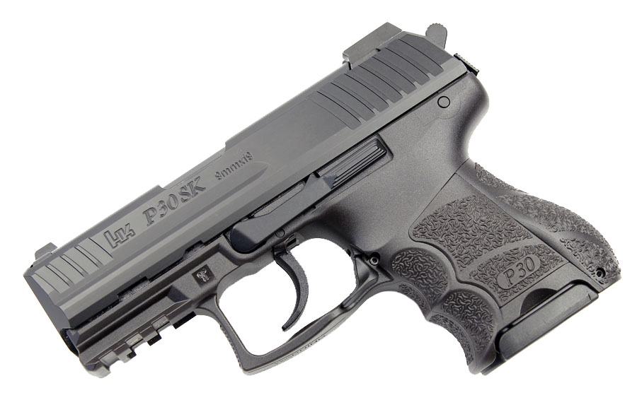 H&K P30SK 9mm, DA/SA, Night Sights, V3, 3 Mags