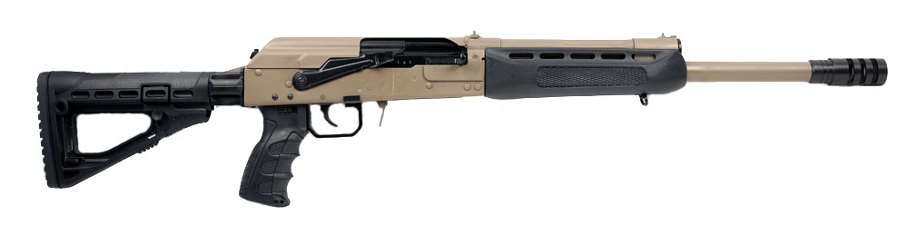 Izhmash Saiga 12 Semi-Automatic Tactical Shotgun, 12 Gauge - FDE/BLK
