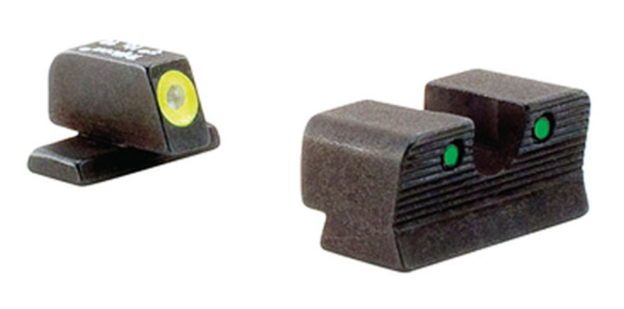 Trijicon HD Night Sight Set - SIG 220/229 - YELLOW OUTLINE FRONT