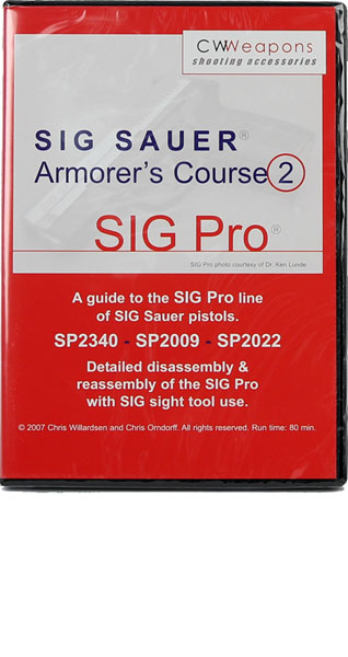 SIGPRO Armorer's Course DVD - SIGPRO