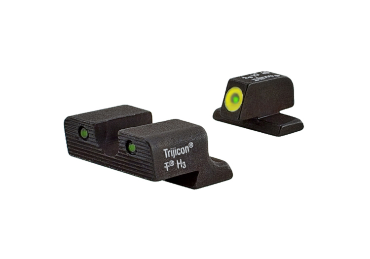 Trijicon HD Night Sight Set - Springfield XD/XDM - YELLOW OUTLINE FRONT
