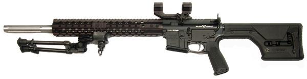 Wilson Combat Super Sniper Tactical Rifle, .223 Wylde, Black Armor Tuff