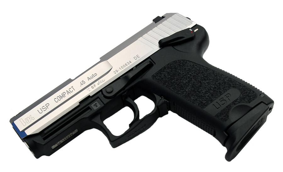 H&K USP Compact .45ACP, DA/SA, Standard Sights - Two-Tone