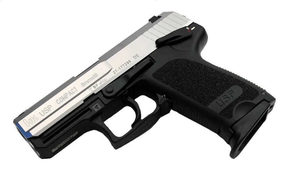 H&K USP Compact 9mm, DA/SA, Standard Sights - Two-Tone